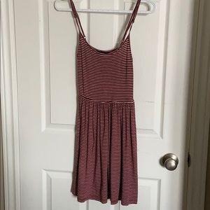 Red&White Striped Dress